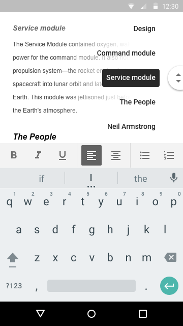 google docs mobile version