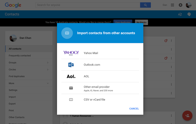 Import Contacts powered by ShuttleCloud